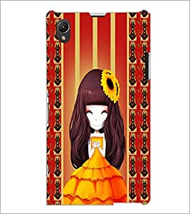 PrintDhaba Cute Girl D-2683 Back Case Cover for SONY XPERIA Z1 (Multi-Coloured)