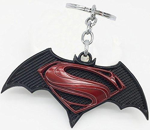 Batman V Superman: Dawn of Justice Symbol Metal Pendant Keychain (bK-Red) at Gotham City Store