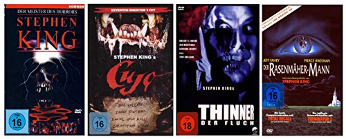 Stephen King Fan Paket ( 4 Filme) (Thinner, Golden Tales, Cujo, Der Rasenmäher-Mann) [4 DVDs]