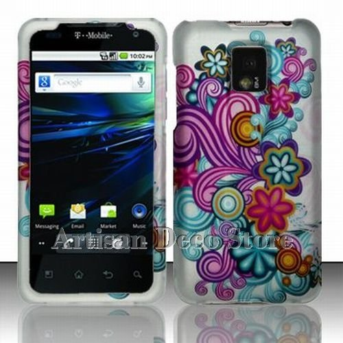 TMobile G2x 4G Accessory - Colorful Blossoming Spring Flower Protective Hard Case Cover Design LG