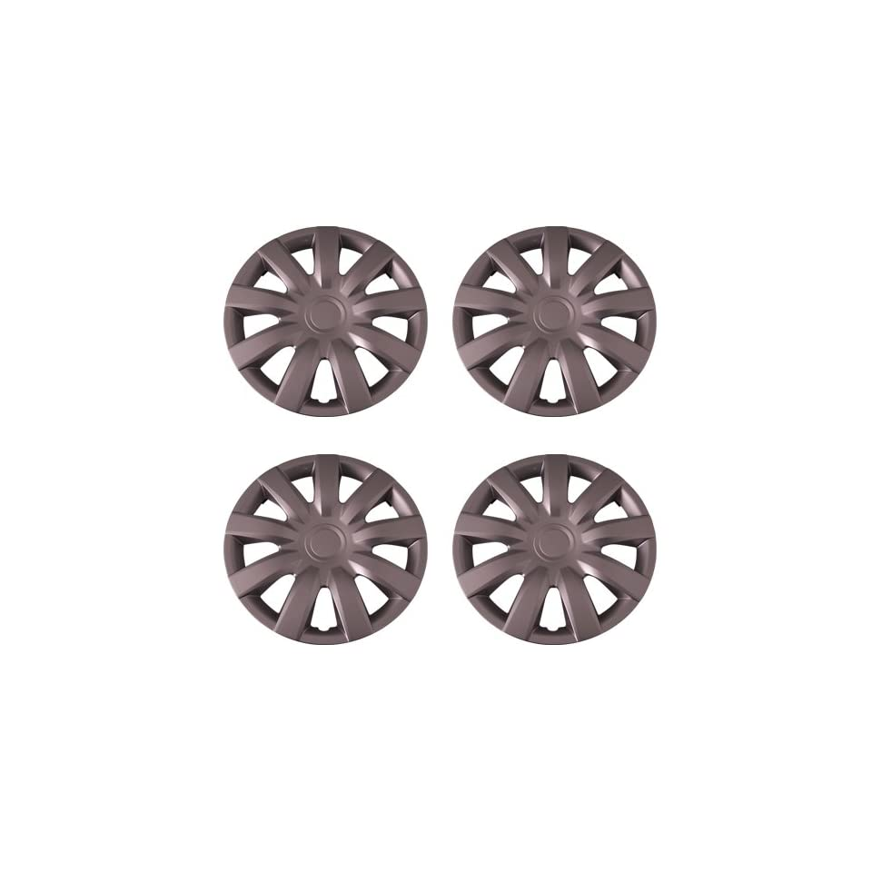 Set of 4 Silver 15 Inch Aftermarket Replacement Hubcaps with Metal Clip Retention System   Part Number IWC423/15S