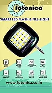 Fotonica Portable Mini 16 LED Night Using Selfie Enhancing Dimmable Flash Light Cellphone Camera Flash Fill-in Light Pocket Spotlight Photo Video Light Lamp Speedlite For Android Smartphone and Tablets Camera Apple iPhone 6 Plus/6/5/5S/5C/4/4S, iPad Air 2/1, iPad 4/3/2, iPad Mini 3/2/1, Samsung Galaxy S6/S5/S4/S3/S5 Mini/S4 Mini, Galaxy Note 4/3/2/Edge, LG tribute, G3/G2, optimus l70/l90/G Pro, Lenovo S8 S898T/A850, Sony Xperia Z3/Z2/Z1/Z1 Compact, Huawei G610/Ascend Mate 7/2/P7/P6/Honor 6, Google Nexus 7/6/5, BlackBerry Z10 (Red)