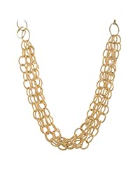 Mask Fashions Gold Metal Link Necklace For Women - B00P6J2CJW