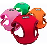 Blueberry Pet Harnesses Classic Solid No Pull Ultra-soft Neoprene Padded Dog Harness Vest in Rouge Red Size M