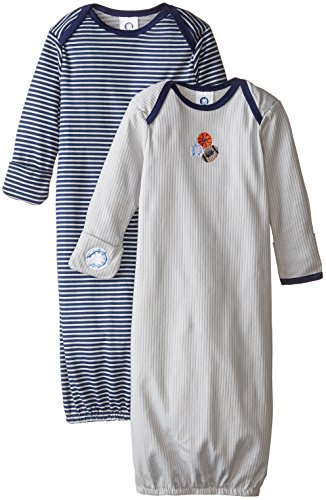 Gerber Baby-Boys Lap Shoulder Gown, Sports, 0-6 Months (Pack of 2)
