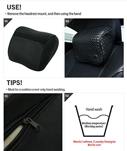 vip black art memoryform car seat cushions armrest center consoles head neck rest waist back. Black Bedroom Furniture Sets. Home Design Ideas