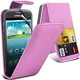 (Baby Rosa) Samsung i8190 S3 Mini elegante in ecopelle bancomat/carta di credito Slot Coperchio Custodia Pelle...