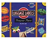 Bonjour Paris Luggage Labels (Travel Stickers)