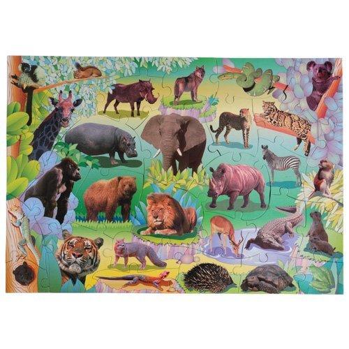 Small World Toys Wildlife Floor Puzzle