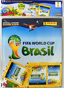 2014 Panini FIFA World Cup Brazil Factory Sealed Starter Pack with Deluxe Hardcover Album and 4 packs! ONLY available in Europe! Imported !