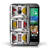 STUFF4 Phone Case Cover for HTC One1 Mini 2 Bars Design Slot Machine Collection