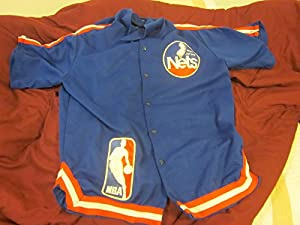 1983 1984 New Jersey Nets Game Used Warm Up Pants & Jacket #11 Mick Jones by Hollywood Collectibles