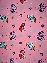 My Little Pony Pink (Flat Top Sheet Only) Size TODDLER Boys Girls Kids Bedding