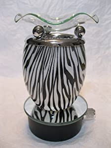 Black and White Animal Design Decorative Glass Electric Plug-in Fragrance Lamp Aromatherapy Oil Warmer/burner Night Light in Gift Box # Mt-040