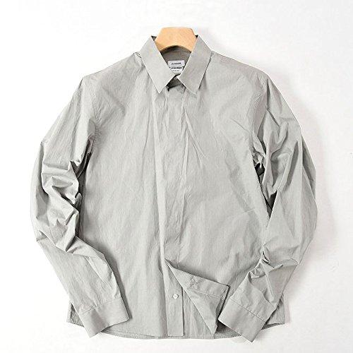 JIL SANDER (ジルサンダー) シャツ 長袖 比翼フロント/無地 ソリッド【メンズ】【40】【並行輸入品】
