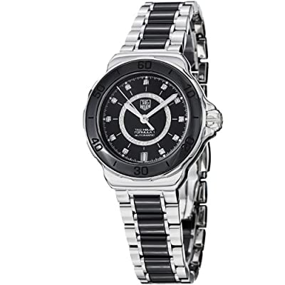 Tag Heuer Formula 1 Diamond Steel and Black Ceramic Ladies Watch WAU2210.BA0859 from Tag Heuer
