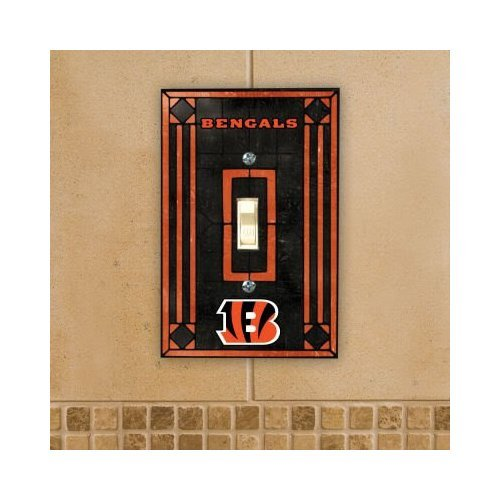 Cincinnati Bengals - NFL Art Glass Single Switch Plate Cover