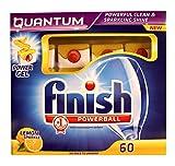 Finish Quantum Poweball Dishwasher Tablets with Power Gel Lemon Sparkle - 60 Tablets