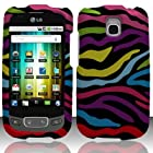 LG Optimus T P509 / LG Phoenix P505 / LG Thrive P506 Case (T-Mobile / AT&T) Exquisite Zebra Hard Cover Protector with Free Car Charger + Gift Box By Tech Accessories