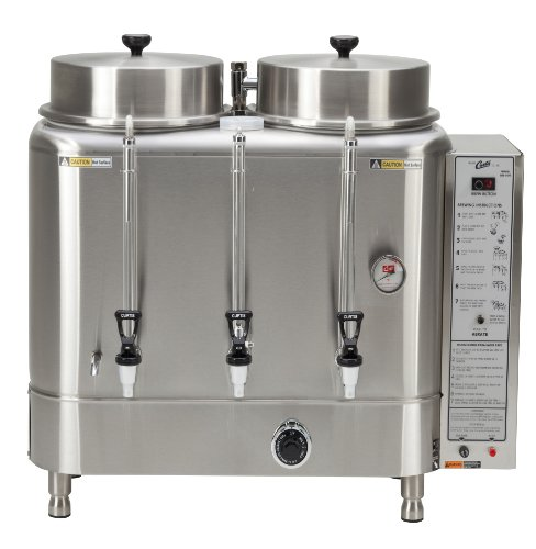 Wilbur Curtis Automatic Coffee Urn 10.0 Gallon Twin Coffee Brewer, 1Ph 3W+G 208/220V 45.5A 10,000W - Commercial-Grade Automatic Coffee Brewer - RU-1000-12 (Each)
