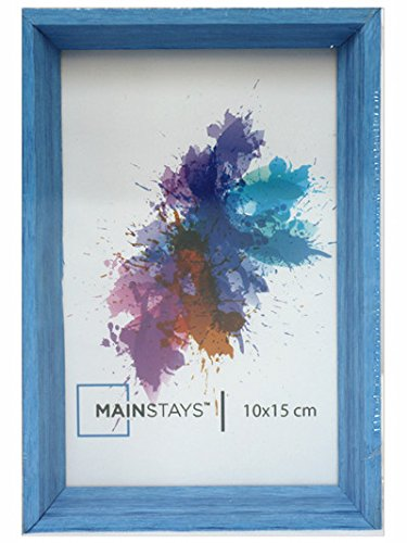 Ultimateod International Designs Linear Classic Wood Picture Frame, Holds 4''x6 ''Picture, 4 colours (Blue)