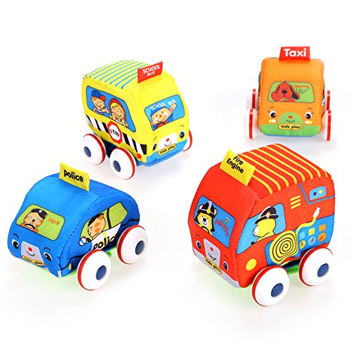 Arshiner-Little-Girls-Pull-Back-Cartoon-Vehicle-Cars-Set-Toys4-Packs