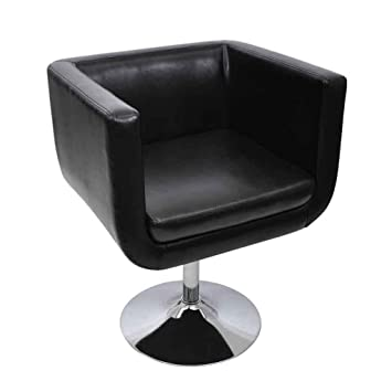 Vidaxl fauteuil design design club noir cuisine for Fauteuil cuisine design