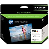 HP 110 Tri-Color Ink Cartridge in Retail Packaging, Photo Value Pack (Q8700BN#140)