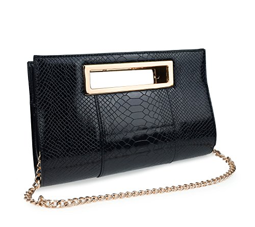 Hoxis-Classic-Crocodile-Pattern-Faux-Patent-Leather-Metal-Grip-Cut-it-out-Clutch-with-Shoulder-Strap-Womens-Handbag