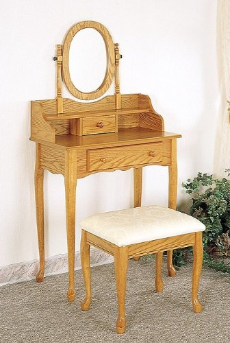 cheap item oak finish wood bedroom vanity set review via