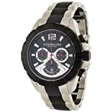 Stuhrling Original Men's 235.332B213 Water-sports 'Westport' Chronograph GMT Black PVD Men's Watch