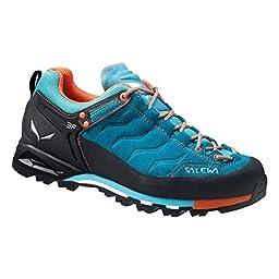 Salewa Women\'s WS MTN Trainer GTX Hiking Shoe, Venom/Tiger Lilly, 8 M US