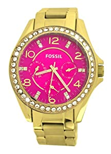 Fossil Women's ES3507 Riley Analog Display Analog Quartz Gold Watch