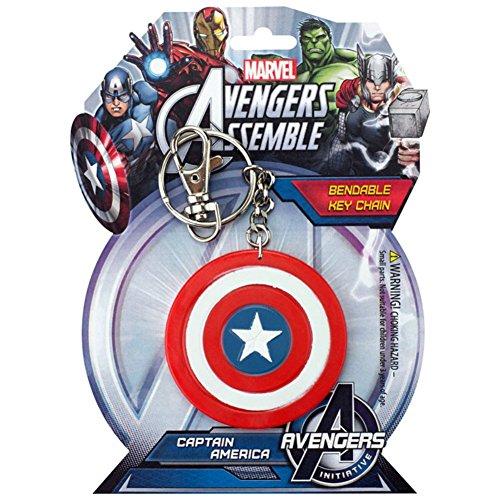 Marvel Avengers Captain America's Shield マーベル アベンジャーズ キャプテン・アメリカ シールド グッズ Bendable Keychain キーホルダー [並行輸入品]