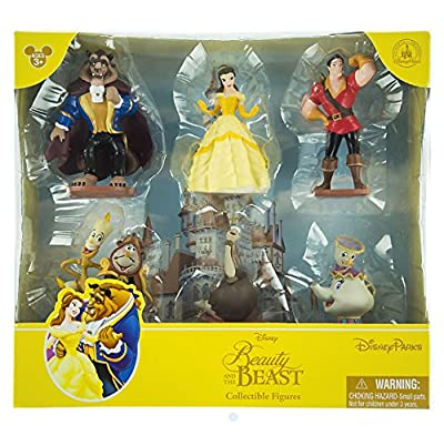 Disney Parks Beauty and the Beast Princess Belle Collectible Figurine Playset Play Set Cake Topper
