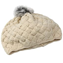 niceeshop(TM) Baby Infant Boy Girl Knit Crochet Rib Pom Pom Warm Beanie /Hat /Cap - Creamy-white