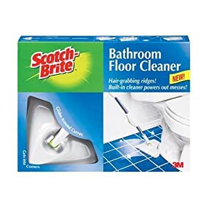 3m scotch brite mmm8003sk4 bathroom floor cleaner amazon for Bathroom floor cleaning products
