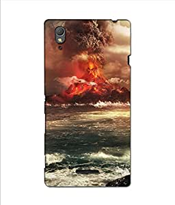 Crazymonk Premium Digital Printed 3D Back Cover For Sony Xprria T3