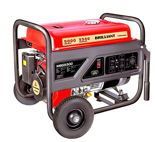 Mitsubishi Brilliant Powered By Mitsubishi MBG5500 Gasoline Generator Powered by Mitsubishi, 5500-watt