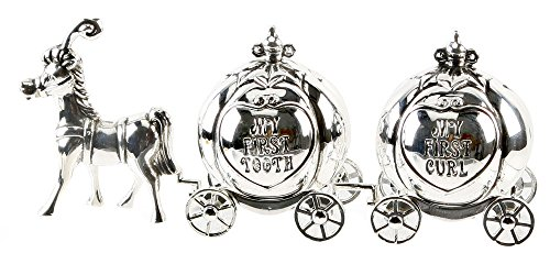 Cinderella Carriage Tooth and Curl Baby Keepsake Gift By Haysom Interiors - 1