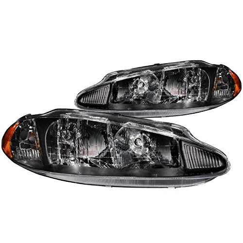 Anzo USA 121027 Dodge Intrepid Crystal Black Headlight Assembly - (Sold in Pairs) (Headlight Assembly 1998 Intrepid compare prices)