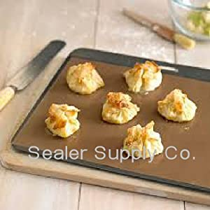 (2) Cookie Sheets Non Stick 15 x 18 Mat Oven Liner PTFE -(BPA -POFA FREE) Made in USA by SSCOOKIESHEET