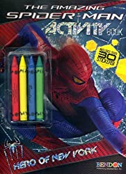 The Amazing Spiderman Activity Book W/crayons + Over 30 Stickers