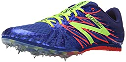 New Balance Men\'s MMD500V4 Track Spike Shoe, Blue/Yellow, 7.5 D US