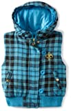 Southpole Girls 7-16 Plaid Hooded Vest