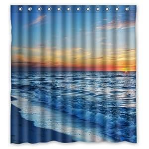 66 x 72 beach theme waterproof polyester