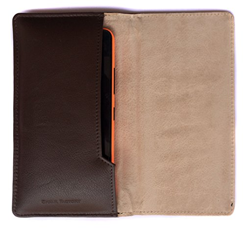 Chalk Factory Brown Leather Case for Samsung Galaxy S5 (Shimmery White) Mobile Phone  available at amazon for Rs.767