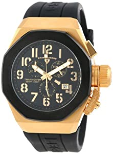 Swiss Legend Caballero 10542-YG-01-BB Trimix Diver cron-grafo Black Dial Black Silicone Reloj