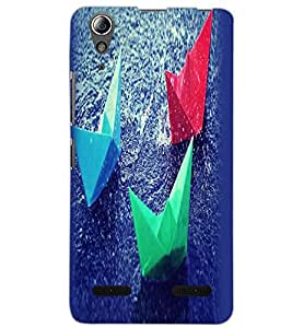 LENOVO A6000 PLUS COLORFUL BOATS Back Cover by PRINTSWAG