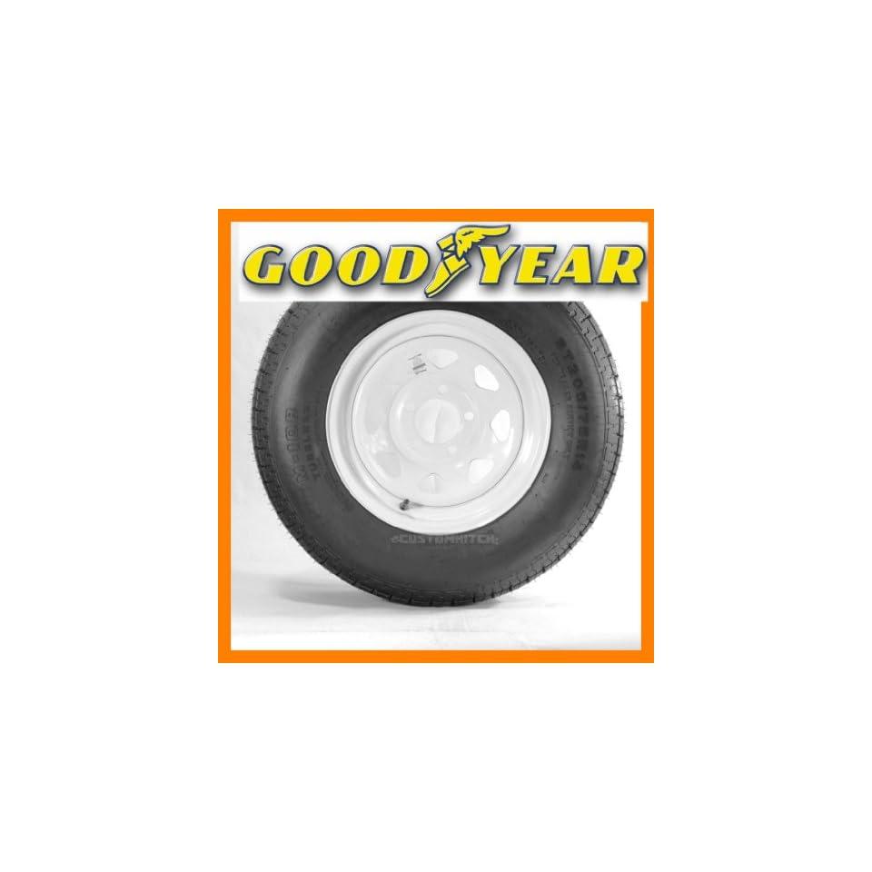 Goodyear Marathon Mounted Trailer Tire ST205/75R14 205/75 14 14 White Spoke Rim
